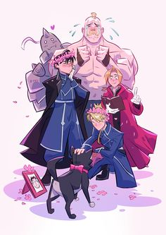 "pichikui:"" Here's my full piece for OTP Wedding Zine!Always pictured the Royai wedding as being something they wanted to do low-key at the courthouse, but their coworkers find out and make it unexpectedly cute. Fullmetal Alchemist Brotherhood, Fullmetal Alchemist Edward, Me Anime, Manga Anime, Anime Art, Edward Elric, Der Alchemist, Alphonse Elric, Drawn Art"