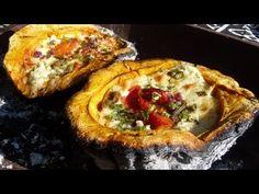 Zapallo Relleno Asado en la Parrilla - Receta de Locos X el Asado - YouTube Tapas, Relleno, Vegetable Pizza, Baked Potato, Quiche, Baking, Breakfast, Ethnic Recipes, Food