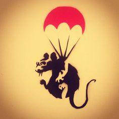 Banksy Art, Urban Art, Rats, Line Art, Stencils, Concept, Illustrations, Artists, Decor
