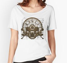 Vintage Steampunk Time Machine 1A by Steve Crompton | Women's Relaxed Fit T-Shirt, click the pin to see other available styles and products