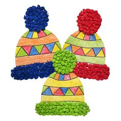 Bastelset Mützen, vorgedruckt, 10 Stück The winter can come with the beautiful hats for the blind tinkering. Everything you need you can find in our shop. Winter Art Projects, Winter Crafts For Kids, Art For Kids, Cardboard Crafts Kids, January Crafts, Winter Activities, Xmas Crafts, Christmas Art, Beautiful Christmas