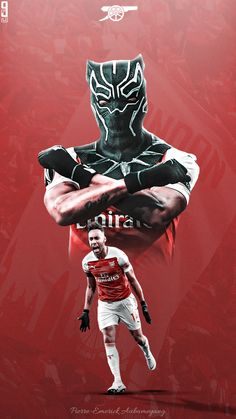 Pierre-Emerick Aubameyan g Arsenal Fc Players, Aubameyang Arsenal, Arsenal Liverpool, Arsenal Football, Football Players, Leeds United Wallpaper, Arsenal Wallpapers, Black Panther Tattoo, Soccer Pro