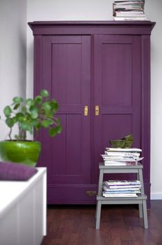 Purple armoire (Discovered via Desire to Inspire: a room by German stylist Matahina.)