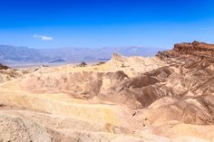 This is the wonderful view into the Death Valley National Park from the Zabriskie Point. Zabriskie Point, Death Valley National Park, Blog Voyage, Photos, Pictures, Wild West, Grand Canyon, National Parks, United States