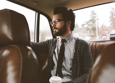 nich hance shirt tie glasses beard hair fashion streetstyle Style men tumblr