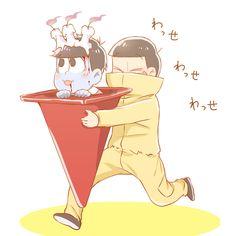 「最近カラ松が幼児に見えます漫画とらくがき。」/「カフェー」の漫画 [pixiv]