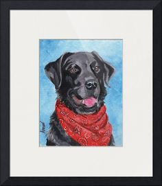 """""""Black Lab"""" by Terry Stanley, Green Bay, WI // Can't you just see the intelligence in his eyes? // Imagekind.com -- Buy stunning fine art prints, framed prints and canvas prints directly from independent working artists and photographers."""