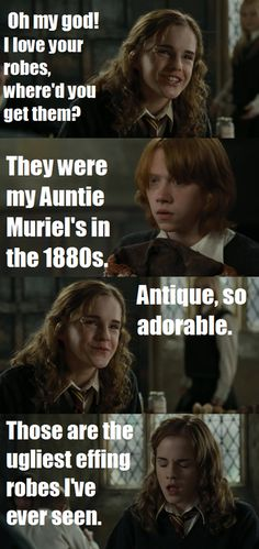its so funny because hermione is the exact opposite of regina george