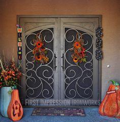 First Impression Ironworks front door #ornamentaliron #frontdoor #irondoor #customiron #ironartwork # & Enclosures Features u0026 Benefits | Pinterest | Security door Doors ...