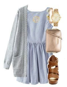 """church:)"" by elizabethannee ❤ liked on Polyvore featuring Kate Spade, Cartier, Majorica, MICHAEL Michael Kors, women's clothing, women, female, woman, misses and juniors"