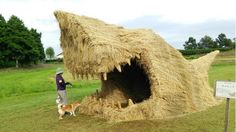Rice straw festival - giant sculptures