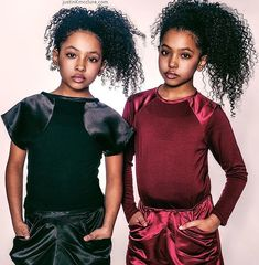 Gorgeous twins Anais and Mirabelle wearing Isossy Children at The Black Cotton Foundation and An Assa Production combined Fashion Show and Award Ceremony in NYC on Saturday March 18th 2017! www.alegremedia.co.uk #alegremedia