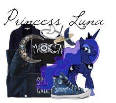 """Princess Luna"" by blueangel16-001 ❤ liked on Polyvore featuring Uttam Boutique, DL1961 Premium Denim, Judith Jack, Converse, Andrea Fohrman and Midsummer Star"