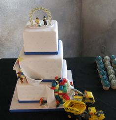Bridal/Lego cake.  Alex would LOVE this one!