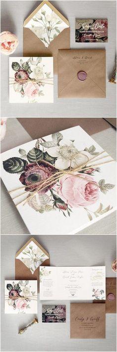 Luxury Folding Wedding Invitations