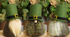 Leprechaun Irish Gnomes St Patrick's Day Felt Gnomes