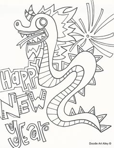 Chinese New Year Coloring Pages From Doodle Art Alley Print And Enjoy