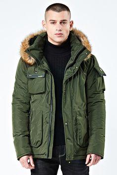 9b97e63037976f Winter Down Parka Jacket For Men Mens Military Price history.