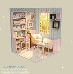 1/6 Ooak handmade diorama BLUE ZAKKA BEDROOM on ebay :)   Is in 1/6 scale , perfect for Blythe, Pulllip , Monster High ,Barbie , Momoko, et...