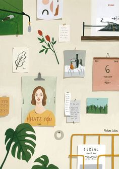 We're illustration lovers here. Are you an aspiring graphic designer? Feed your design hunger at Referential Treatment. See more 2019 illustrations, drawings, doodles, sketches, and the like on this board. Art And Illustration, Illustrations And Posters, Inspiration Art, Art Inspo, Moodboard Inspiration, Art Design, Collage Design, Aesthetic Art, Oeuvre D'art