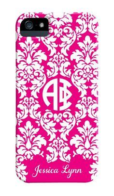 Alpha Phi Damask Phone Case at Greek Girl Shop!