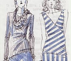 I really like this quick but helpful tutorial! It not only shows how to make your OWN croquis', but helps you understand the what/how the proportions work for your body. I'm going to shoot some pics of my bod type and make one of these. Will post it here on Pinterest when done. [LDJ]  Video: Learn the Basics of Fashion Illustration from Yelen Aye