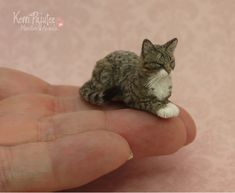 Realistic sleeping Tabby Cat sculpture by Pajutee on deviantART
