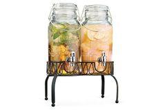Twin Beverage Dispensers w/ Stand on OneKingsLane.com