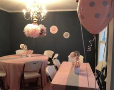 pink and gray birthday party