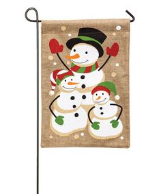 Loving this Snow Family Flag on #zulily! #zulilyfinds