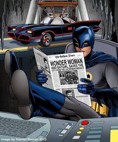 Batman 66 - Reading the Paper
