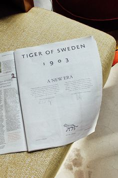 Tiger of Sweden, refonte par A New Archive Graphic Design Branding, Stationery Design, Brochure Design, Graphic Design Art, Print Design, Editorial Layout, Editorial Design, Business Design, Creative Business