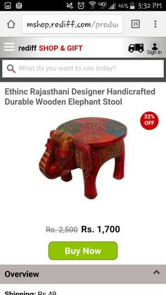 Love this elephant stool!  Not sure about the color but it's pretty awesome!