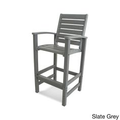 Enjoy spending time at your outdoor bar with the POLYWOOD Signature Bar Chair. With the look of real wood, this heightened chair brings casual elegance to your patio or deck, and requires no painting, staining or waterproofing. Patio Dining Chairs, Patio Bar, Bar Chairs, Outdoor Chairs, Pink Chairs, Room Chairs, Study Chairs, Reading Chairs, Rattan Chairs