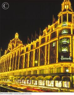 Harrods---I love to visit the incredible, gigantic food court in Harrods each time I go to London.
