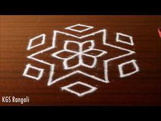 Simple & Easy Kolam with dots Rangoli Designs Latest, Simple Rangoli Designs Images, Rangoli Designs Flower, Rangoli Border Designs, Rangoli Patterns, Rangoli Ideas, Rangoli Designs With Dots, Beautiful Rangoli Designs, Rangoli Borders
