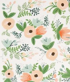 Rifle Paper Company Wildflower Wrap | a print like this would make a cool accent wall in a girl's room