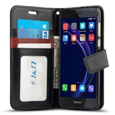 Slim Fit Case Wallet Stand Black Heavy Duty Protective Shock Resistant Flip Cover Wallet Case for Samsung Galaxy A5 Release in 2017 J/&D Case Compatible for Galaxy A5 2017 Case,