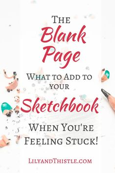 What to add to your sketchbook when you are out of ideas. Easy and fun tips and tricks to inspire you! Whether you are a beginner and just want to doodle or a serious artist, you will find some great ideas that will challenge you while having a lot of fun! #artjournal #sketchbookideas #beginner #doodling #artinspiration #momlife #lds #artmom #selfcare
