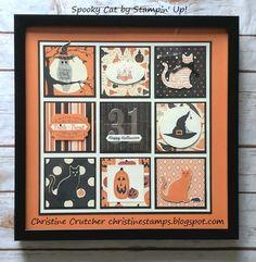 Halloween Shadow Box, Christmas Shadow Boxes, Halloween Week, Halloween Cards, Halloween Frames, Halloween Quilts, Box Frame Art, Box Frames, Halloween Scrapbook