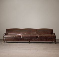 10' Barclay Leather Sofa. this one only looks good against a wall, I don't like the backside being visible....