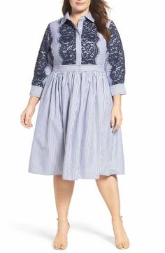 88ffec58819eb Eliza J Poplin Shirtdress (Plus Size) Plus Size Pants