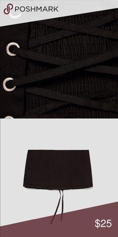Wide elastic corset belt Wide elastic corset belt Zara Accessories Belts