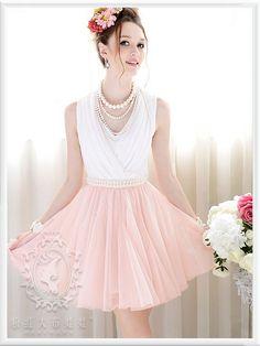 Mango Doll - V-Neck Pearl Sleeveless Dress , $72.00 (http://www.mangodoll.com/all-items/v-neck-pearl-sleeveless-dress/)
