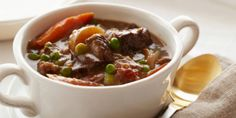 Parker's Beef Stew recipe from Ina Garten via Food Network. My favorite stew recipe! Slow Cooker Recipes, Soup Recipes, Cooking Recipes, Oven Cooking, Crockpot Recipes, Dinner Recipes, Chilli Recipes, Fall Recipes, Dinner Ideas