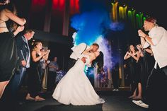 Use colorful smoke bombs for your grand exit!!