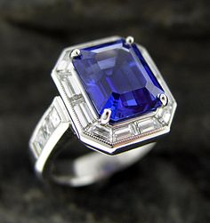 sapphire solitaire settings | Range of settings with Colored Stone for diamond engagement rings and ...