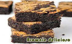 Brownie com manteiga de amendoim e chocolate #receitas #receitasfitness #academia #dieta