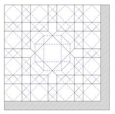 Star Shield Tessellation tutorial. Hexagon 40 grids. I