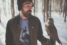 THE BEARDED + hawk = love